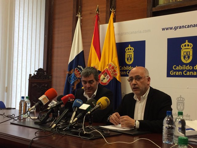 Fernando Clavijo y Antonio Morales