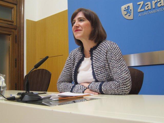 La portavoz de Cs en el Ayuntamiento de Zaragoza, Sara Fernández