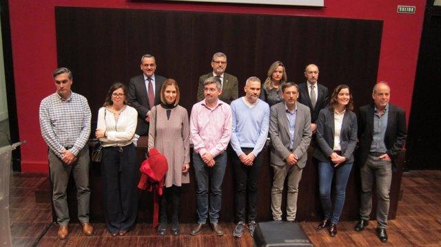 Investigadores de excelencia de Aragón, junto con responsables de UZ y Gobierno