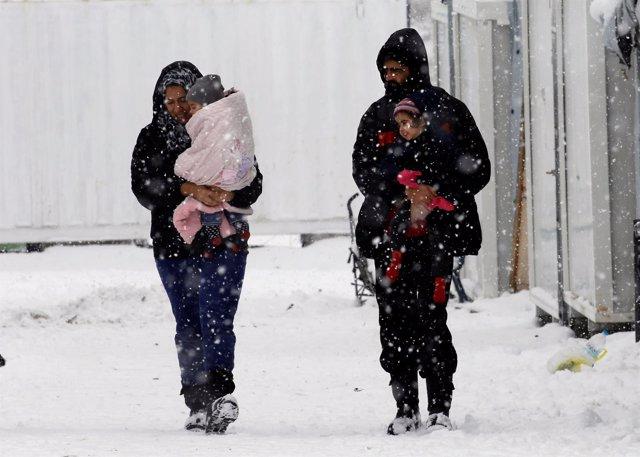 Refugiados sirios en Ritsona (Grecia)
