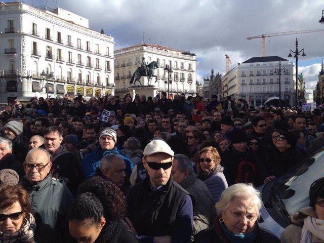 Manifestación Marcha por el cambio. Podemos Madrid.