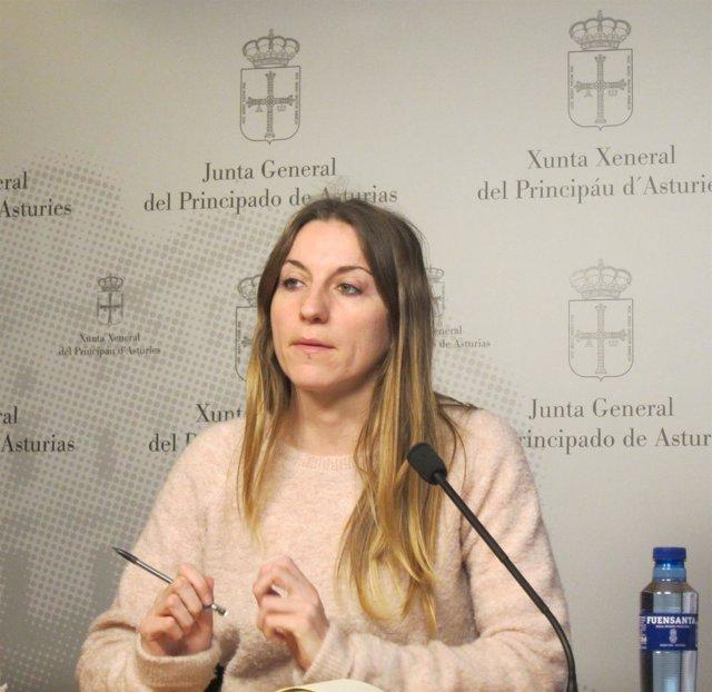La diputada de Podemos Asturias Lucía Montejo.