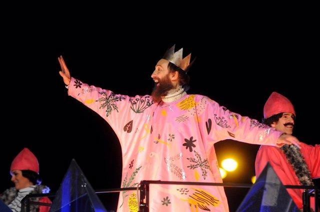 Gaspar en la cabalgata de reyes de Madrid