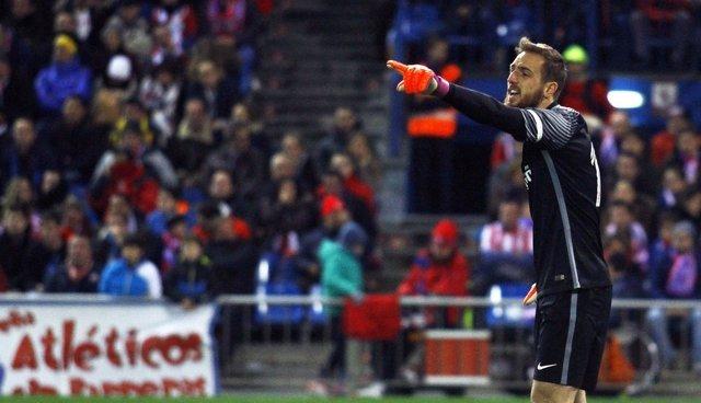 Oblak en el Atlético de Madrid - Espanyol