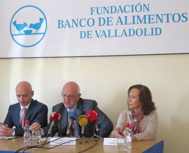 Rueda de prensa en el Banco de Alimentos de Valladolid