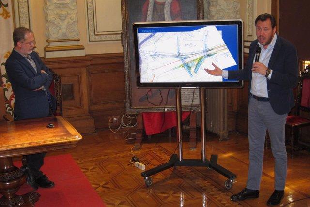 El alcalde de Valladolid y el concejal Manuel Saravia