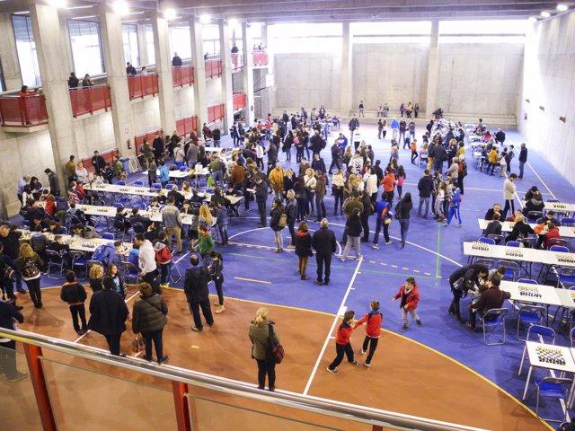 Más de 200 escolares han disfrutado del ajedrez en el Pabellón de Carboneras.