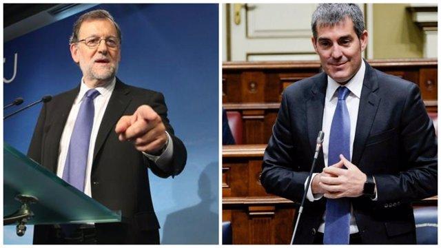 Mariano Rajoy y Fernando Clavijo