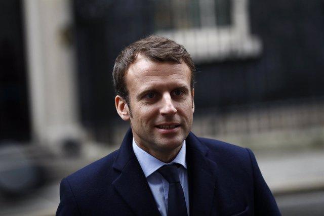 Emmanuel Macron, a su salida de Downing Street