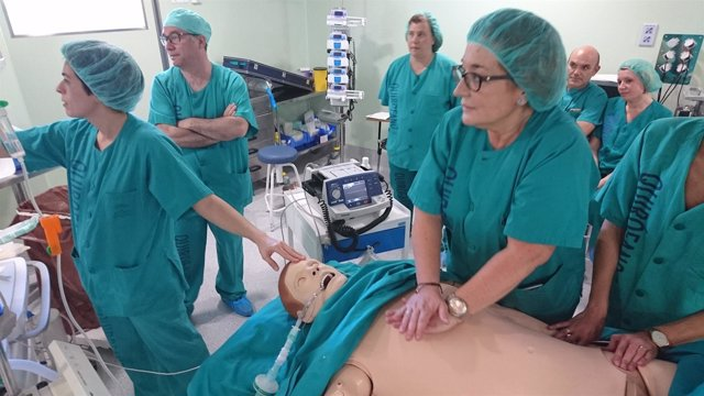 Curso de simulación de anastesia