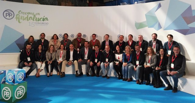 Comité organizador del congreso del PP-A Málaga 2017
