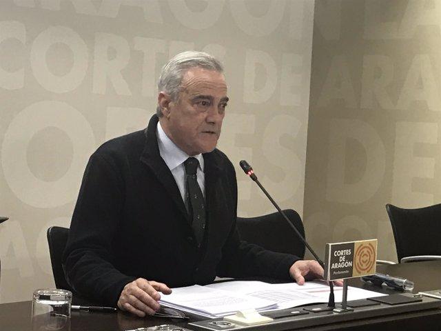 El portavoz del PSOE Aragón, Javier Sada.