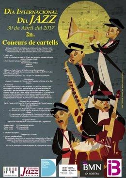 Cartel convocatoria 2º concurso carteles Día Internacional del Jazz