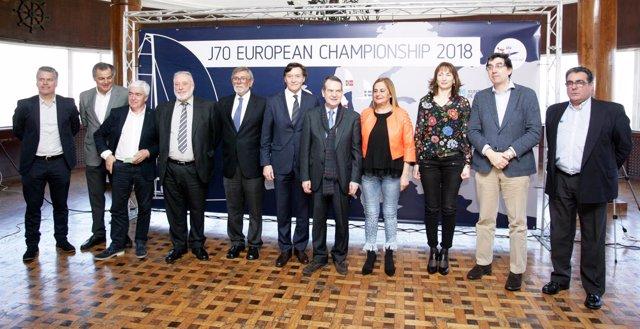 José Ramón Lete en la presentación del Europeo J70 de vela