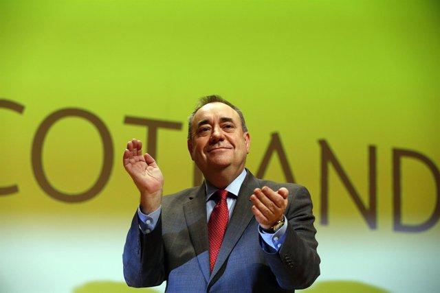 El líder nacionalista escocés Alex Salmond