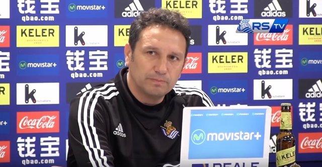 Eusebio Sacristán, entrenador de la Real Sociedad