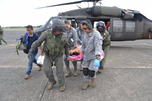 La Fuerza Aérea evacuó a un integrante de las FARC que resultó herido debido a u