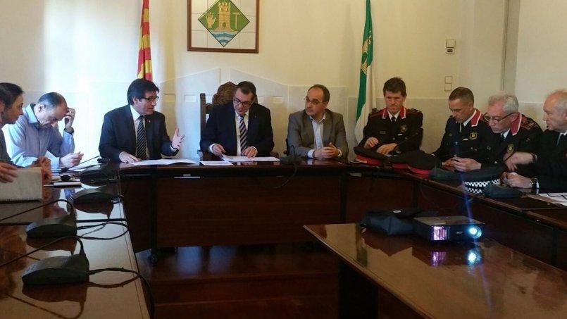 Jané asegura que las patrullas mixtas han reducido un 8,5% los delitos en Martorell (Barcelona)