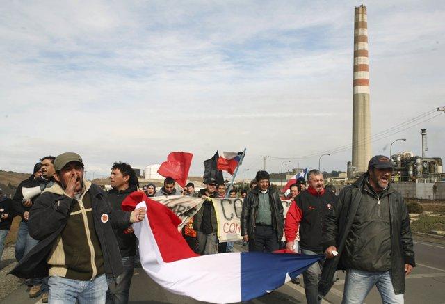 Huelga De Mineros En Chile