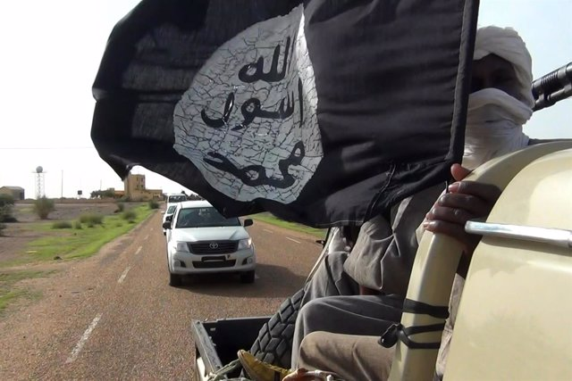 Bandera yihadista en Malí