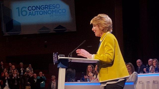 Esperanza Aguirre en el Congreso del PP de Madrid