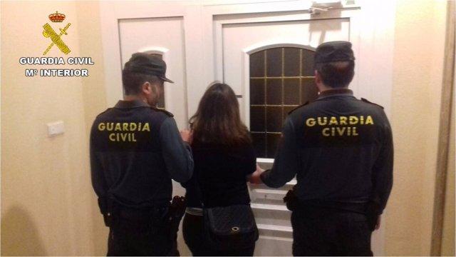 La detenida vendía droga en su propia casa