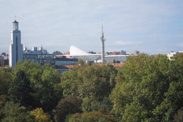 El Palacio de Exposiciones y Congresos Ciudad de Oviedo, Calatrava.