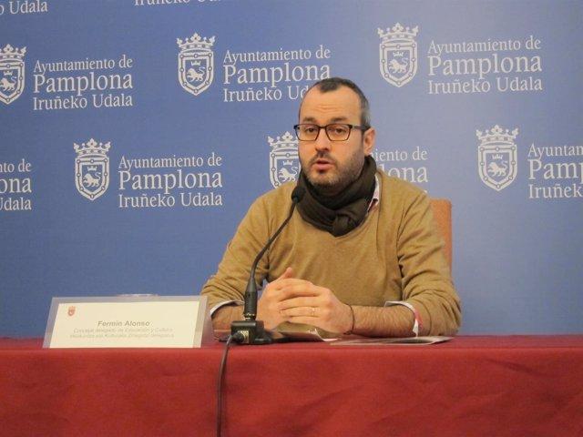 El concejal de UPN en el Ayuntamiento de Pamplona Fermín Alonso