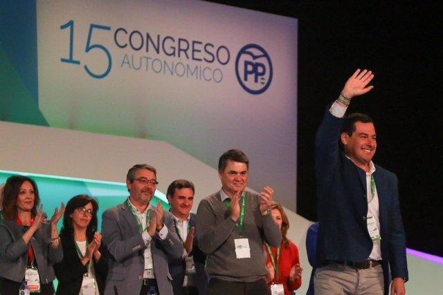 Juanma Moreno, reelegido presidente del PP-A