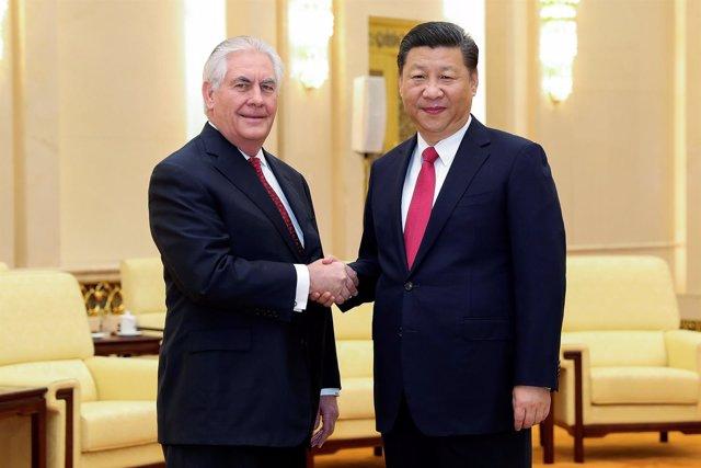 Xi Jinping Junto A Rex Tillerson