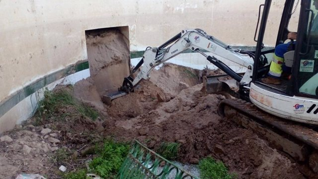 Trabajos de destierro en el balneario de Marmolejo.