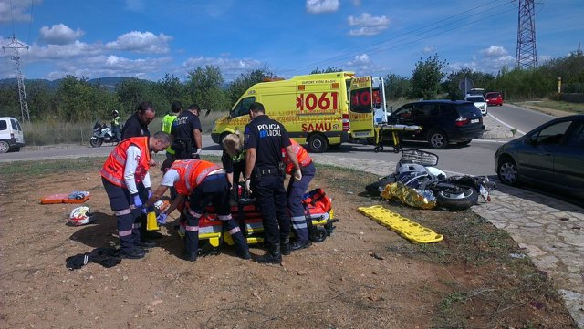 Imagen del accidente en Marratxí