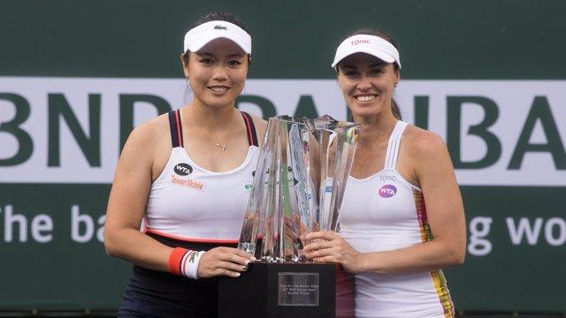 Martina Hingis Chan Yung-Jan campeonas dobles Indian Wells