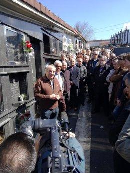 Homenaje del PSE-EE a Juan Priede en Orio.