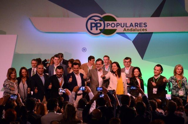 Mariano Rajoy con la dirección del PP-A