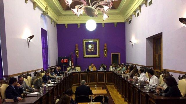 Pleno extraordinario del Ayuntamiento de Jaén sobre refinanciación de préstamos.