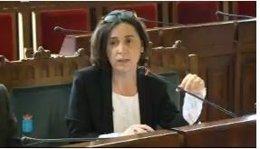 Dolores Carcedo en la Junta General.