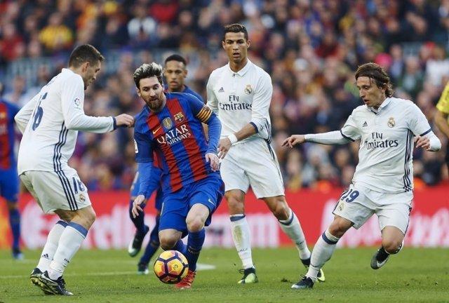 Leo Messi Cristiano Ronaldo Luka Modric Barcelona Reial Madrid