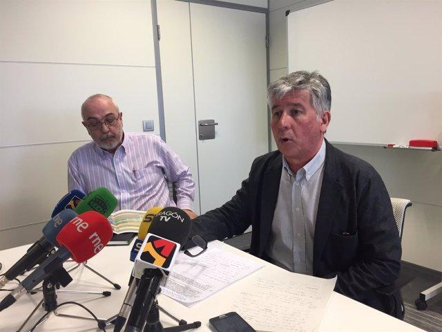 Javier Marión y Esteban del Ruste, en rueda de prensa este lunes