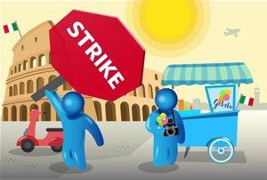 La huelga de controladores en Italia provocará más de 500 cancelaciones este lunes, según A4E