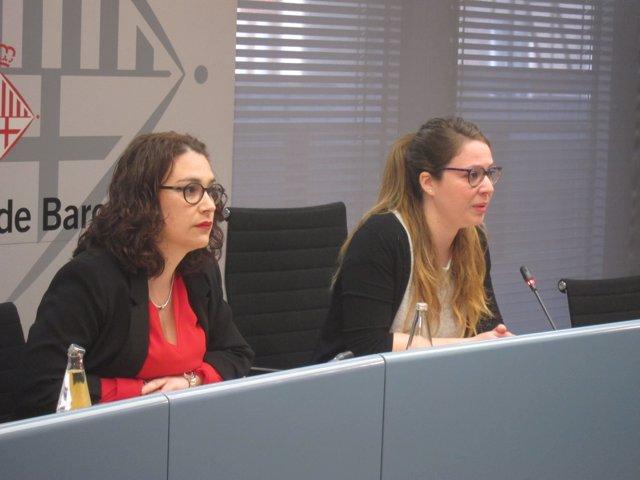 La tinent d'alcalde Janet Sanz i la regidor Laura Pérez