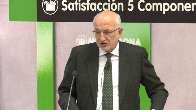 Juan Roig durante el balance de resultados de Mercadona