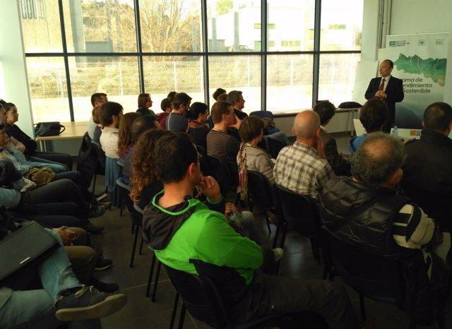 Ramón Tejedor en la inauguración de estas jornadas en la provincia de Huesca