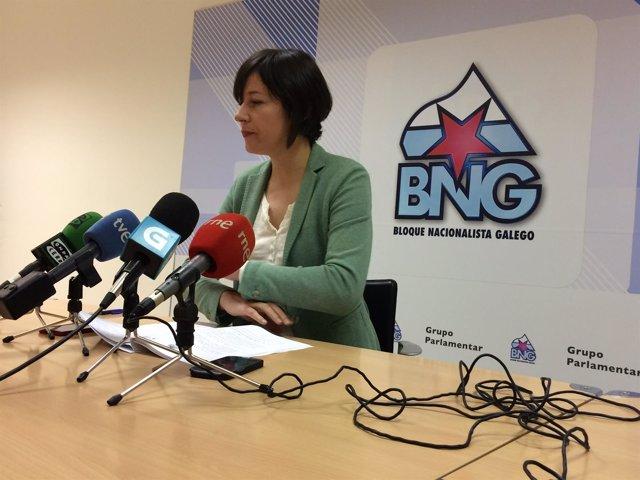 A portavoz nacional do BNG, Ana Pontón, en rolda de prensa