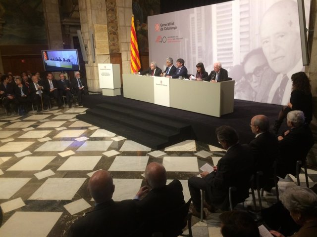 Carles Puigdemont en el 40 aniversario del retorno del pte. Josep Tarradelllas