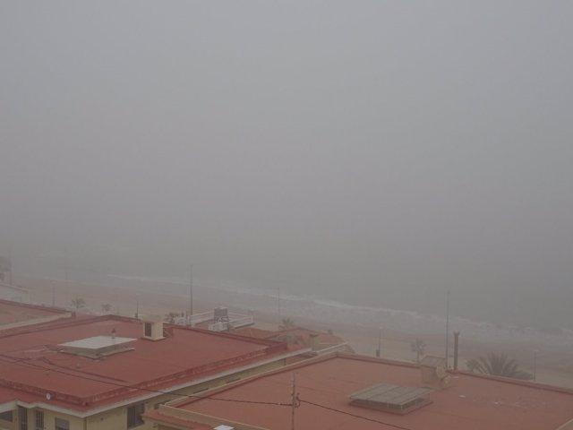 Bancos de niebla en La Safor en una imagen de archivo