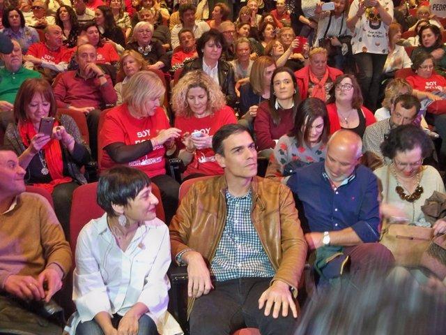 Pedro Sánchez, candidato a la secretaría general del PSOE, en Ourense
