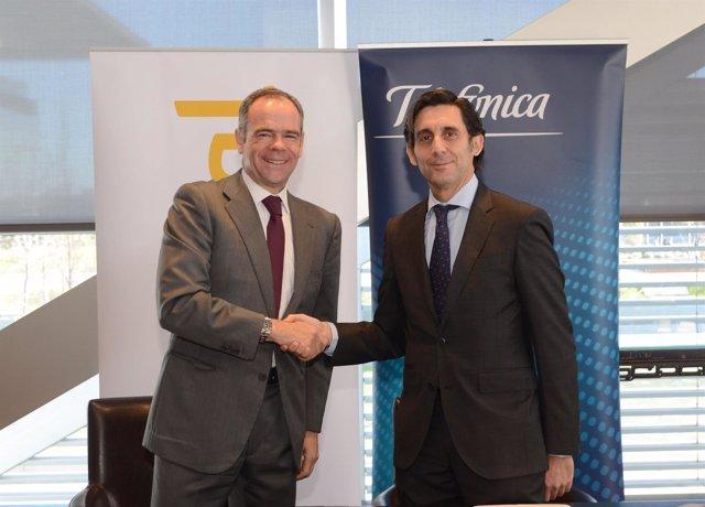 Acuerdo entre Ferrovial y Telefónica