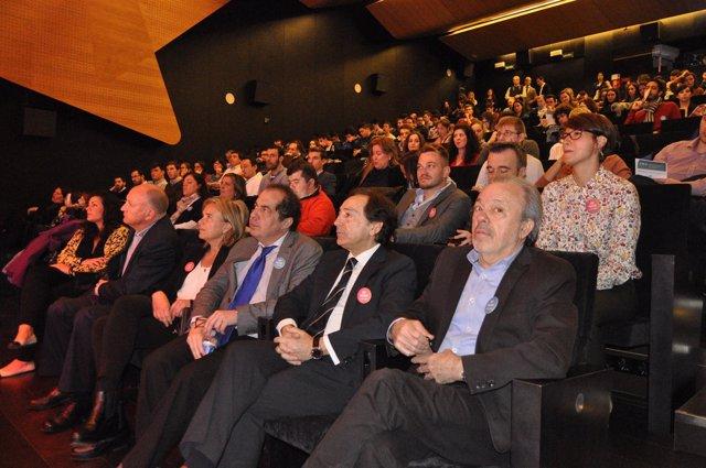 Salvador Arenere (ADEA) y Juan Carlos Cubeiro (Manpower) en la jornada de CEDE.