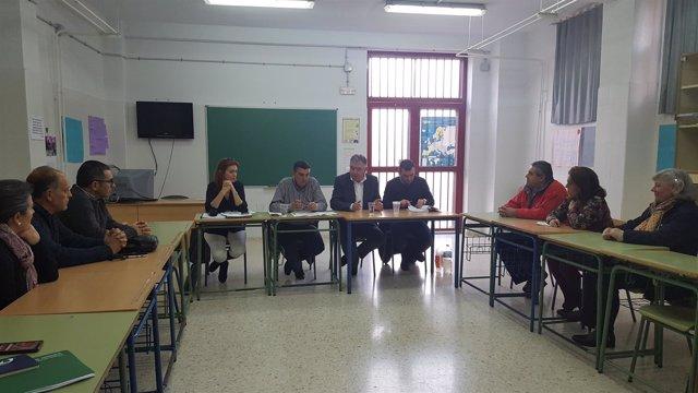 Encuentro con la comunidad educativa del IES San José de Cortegana.